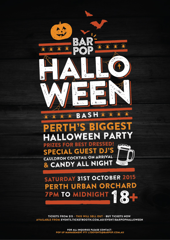 tickets for bar pop halloween bash in northbridge from ticketbooth