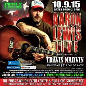 Aaron Lewis At The Pines Pavilion