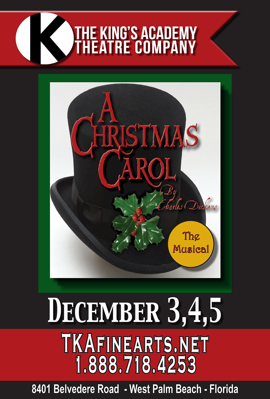 Tickets For A Christmas Carol The Musical In West Palm Beach From Showclix