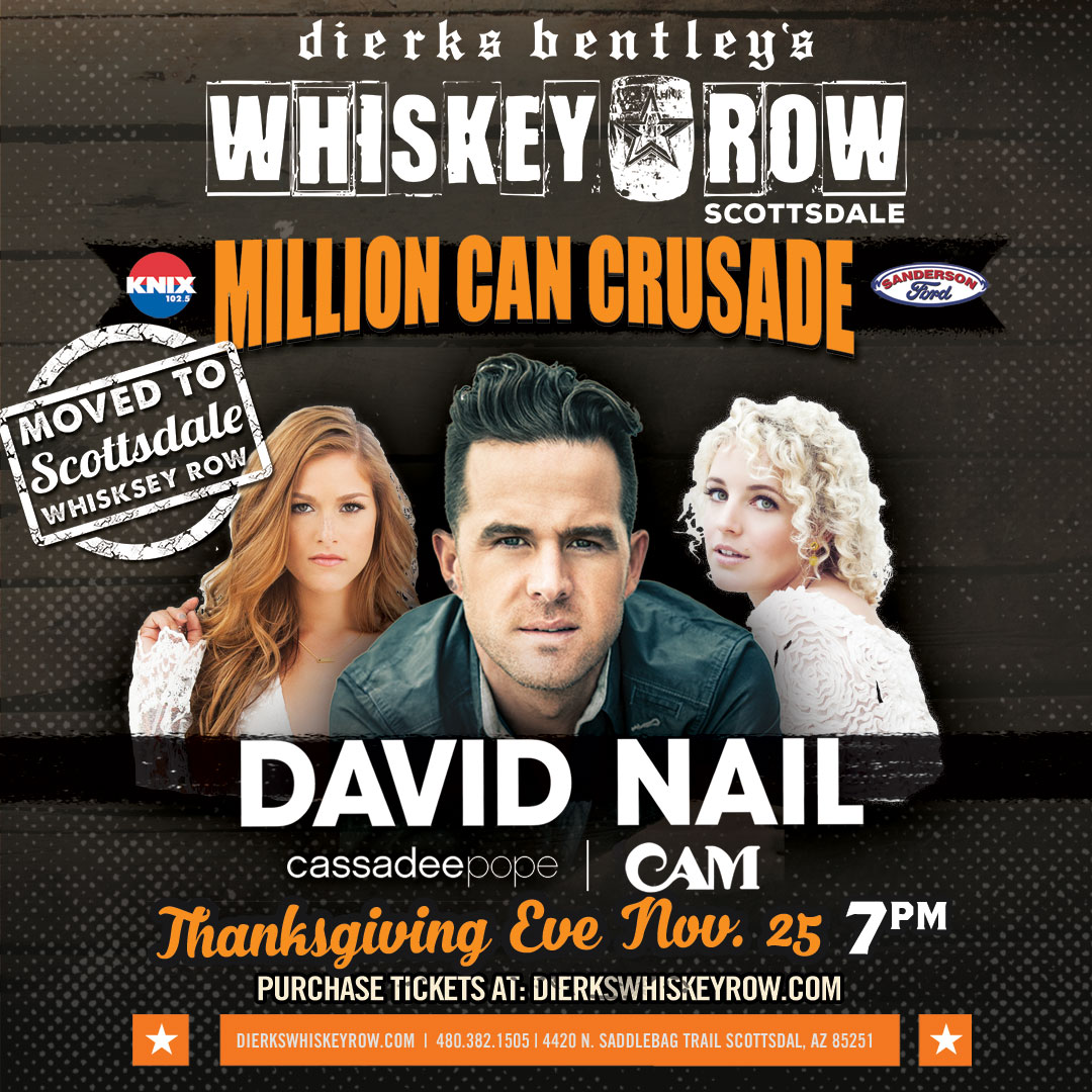 Tickets for Million Can Crusade W/ David Nail in Scottsdale from ...
