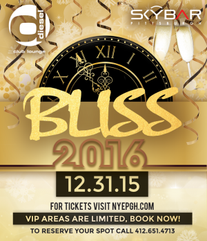 Bliss NYE 2016 Diesel and Skybar