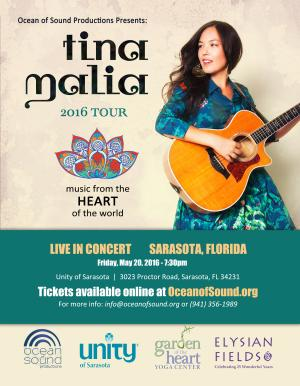 Tina Malia: music from the HEART of the world