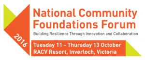 National Community Foundations Forum 2016