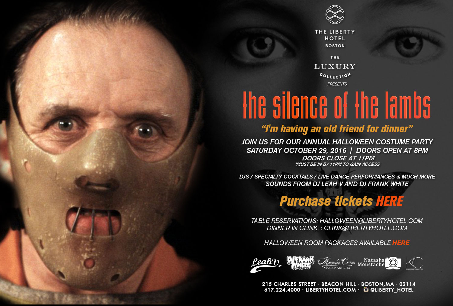 Tickets for The Liberty Hotel Presents: Silence of the Lambs in ...