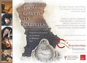 From Ghetto to Cappella at Temple Emanu El