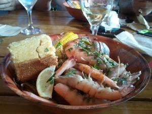 Old Fashioned Shrimp Boil at Hogfish Bar & Grill