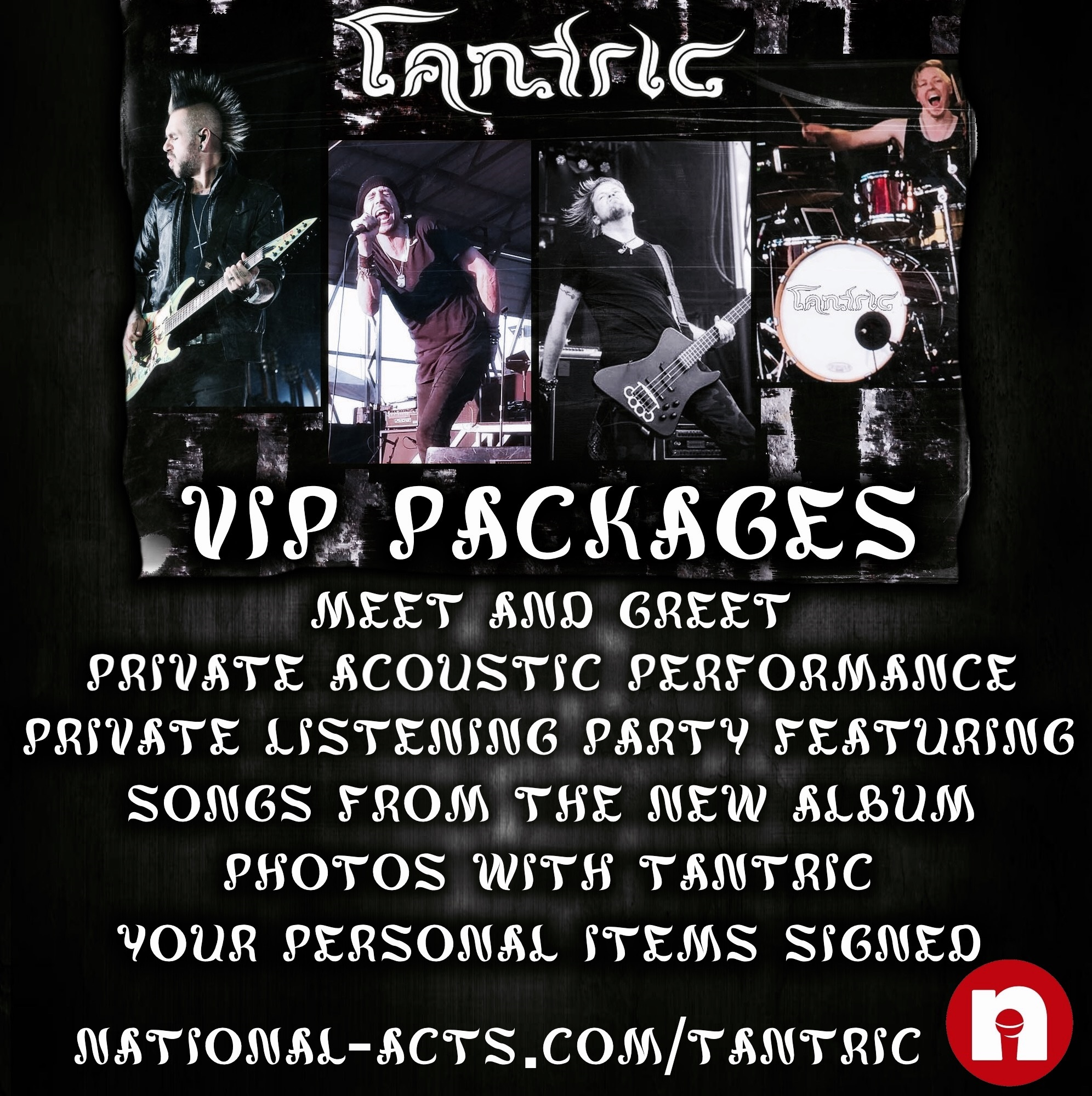 Tickets for tantric vip kokomo in in kokomo from national acts inc the vip gold package includes meet and greet with tantric private 2 song acoustic performance private listening party featuring songs from the new kristyandbryce Choice Image