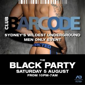 BARCODE 5 AUGUST THE BLACK PARTY