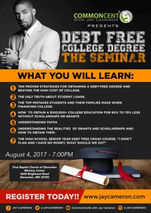 CommonCent$ Debt Free College Degree - The Seminar