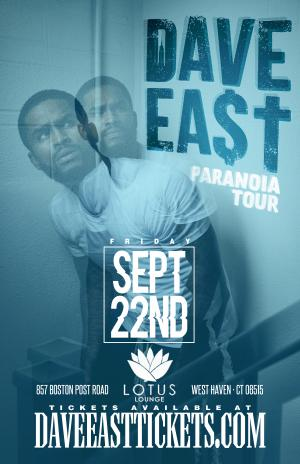 DAVE EAST PARANOIA TOUR