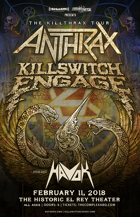 Tickets for sirius xm presents anthrax killswitch engage in tickets for sirius xm presents anthrax killswitch engage in albuquerque from showclix m4hsunfo