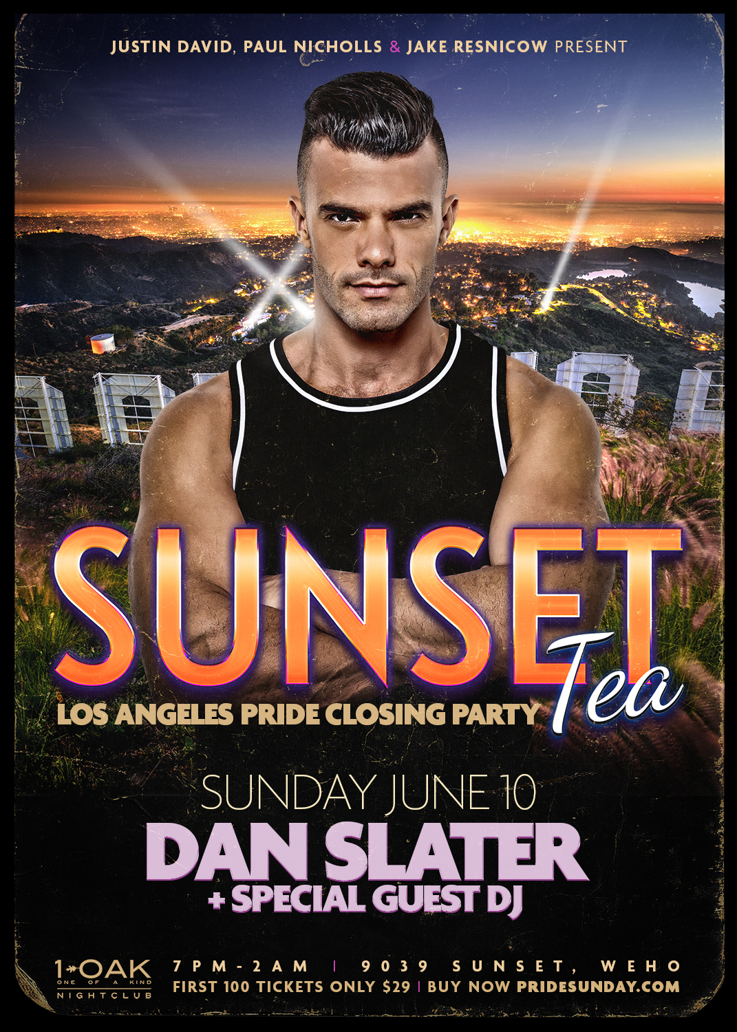 tickets for sunset tea los angeles pride closing party at 1oak in