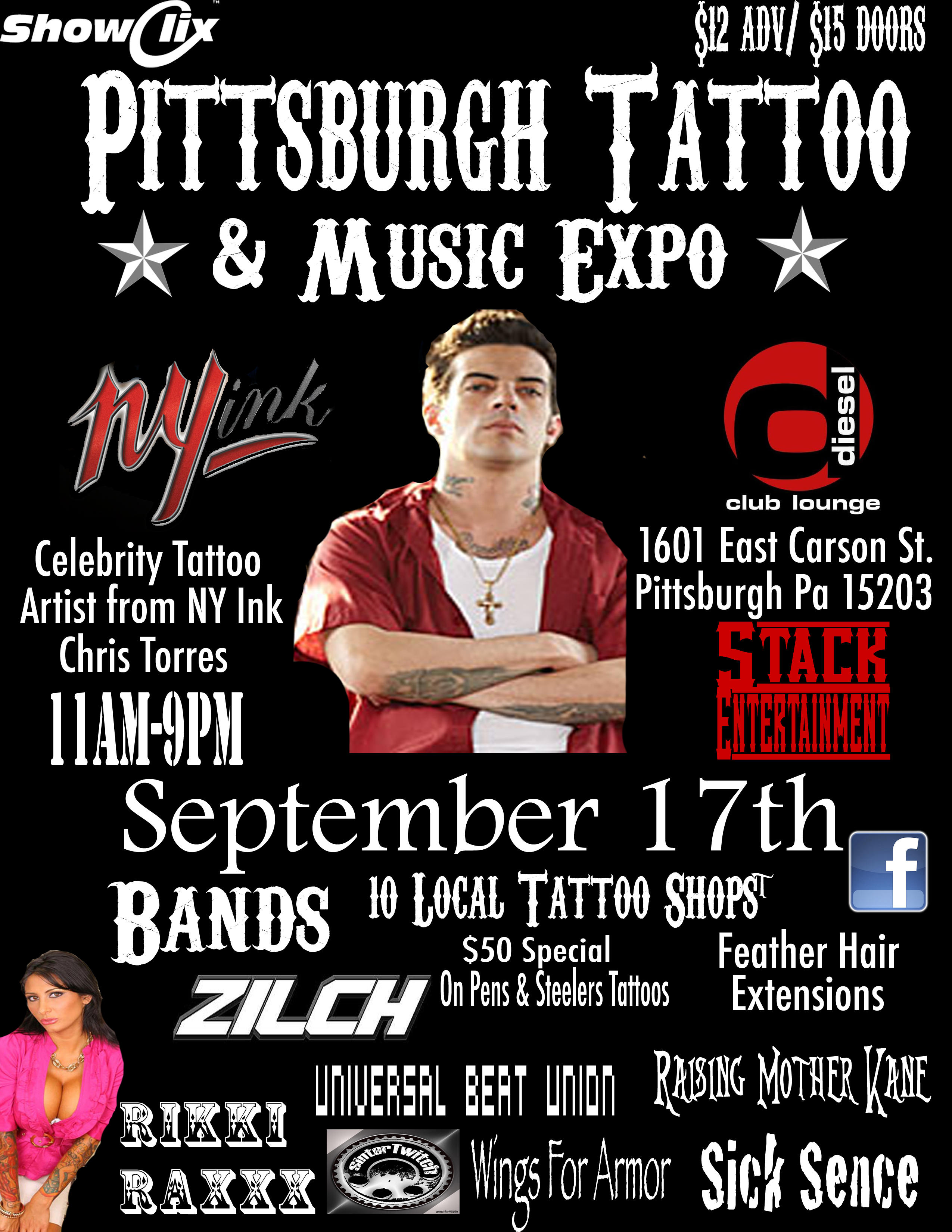 Tickets for pittsburgh tattoo and music expo in pittsburgh for Pittsburgh tattoo convention