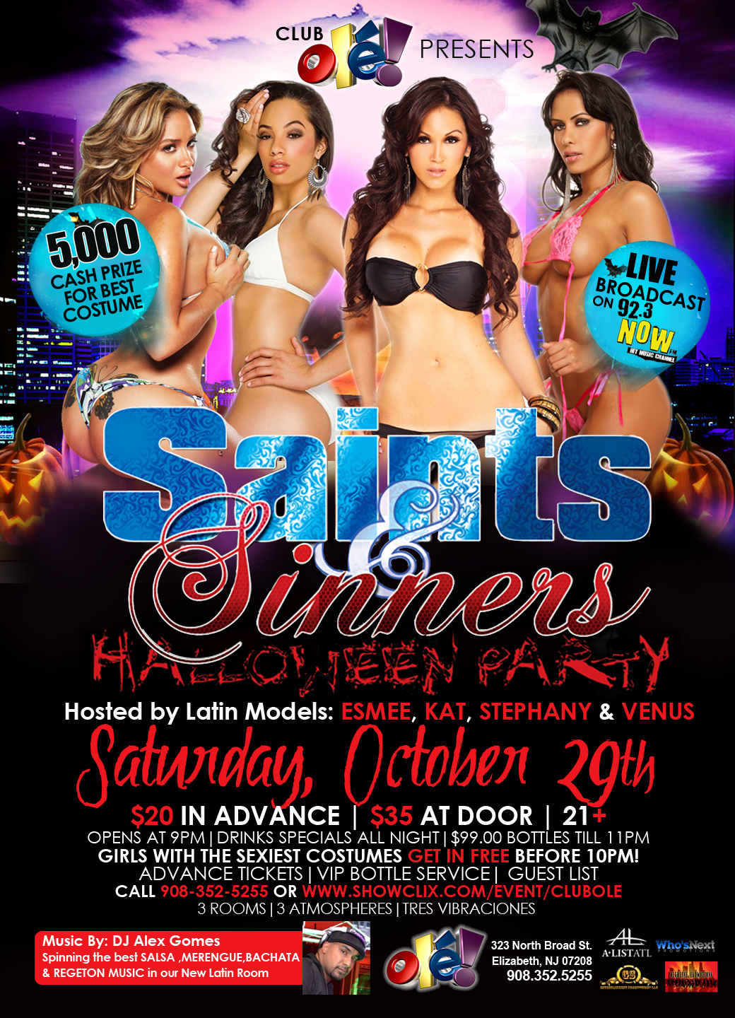 Tickets for Saints & Sinners Halloween Party in Elizabeth from ...