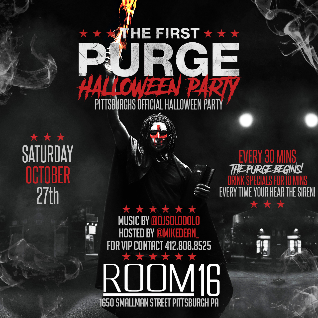 tickets for purge halloween party at room 16 in pittsburgh from showclix