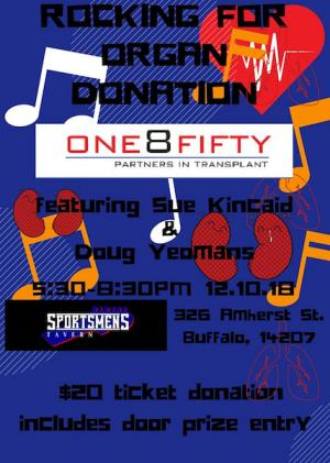 One8Fifty Rocking For Organ Donation