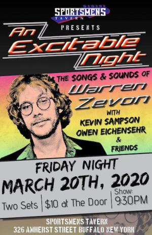 An Excitable Night Music of Warren Zevon