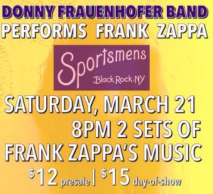 Donny Frauenhofer Band performs Zappa